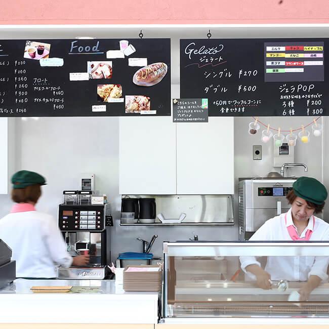 ジェラートカフェ モンテローザ 店内写真