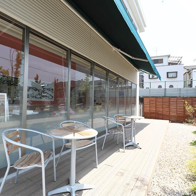 ジェラートカフェ モンテローザ テラス画像